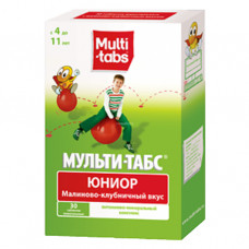 Мульти-табс Юниор Клубника-малина №30 таб жев