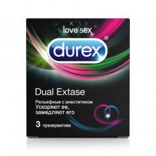 Презервативы Durex №3 Dual Extase (рельефн/с анест.)